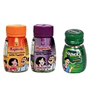 Dabur Hajmola Regular, Imli & Pudina (Spearmint) Digestive 120 Tablets 66g - (Hajmola - The tasty 'Fun-Filled' Digestive) Combo Pack 3 in 1