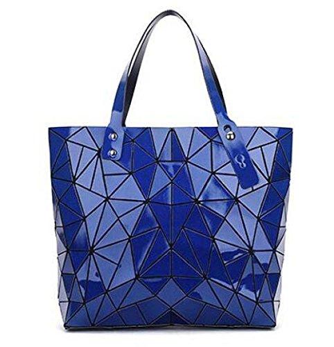 Lingge Blue Nouveau Main à Triangle WLFHM à Pliage Bag Géométrie Sac Irrégulier Bandoulière Sac 8UHngwqO