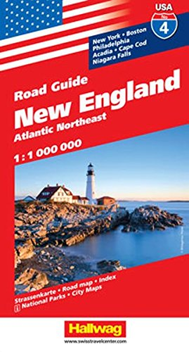 Hallwag USA Road Guide 04 New England 1 : 1.000.000: Atlantic Northeast (Hallwag Strassenkarten, Band 4)