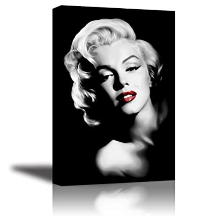 Amazoncom Piy Red Lips Monroe Wall Art With Frame Canvas Prints