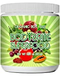 Superfood Powder Total BodyBrite for diet, weight loss, energy boost, or detox. Best green superfood nutritional supplement. 21 delicious fruits, greens & vegetables. Amazing antioxidants. No Soy.