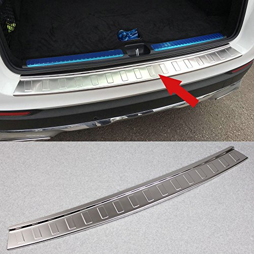 Generic Matte Rear Bumper Sill Plate Guard Cover Fit For Mercedes Benz GLC Class GLC300 GLC43 AMG 2015 2016 2017 2018 (Stainless (Mercedes Benz Bumper Cover)