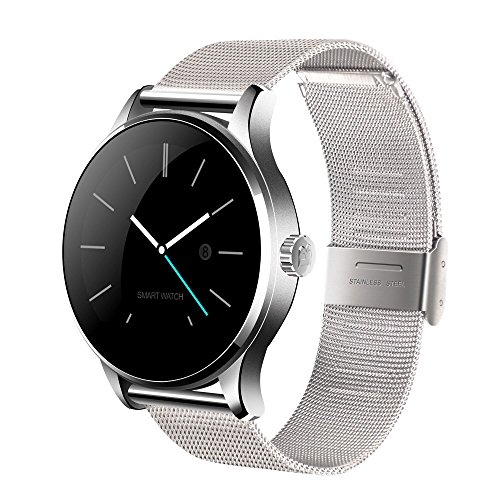 LUIGUIMADY Heart Rate Monitor Smart Watch for IOS Android (Silver) by Luiguimady