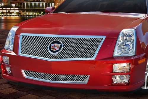 E&G CLASSIC 08 THRU 11 CADILLAC STS CLASSIC HEAVY MESH GRILLE UPPER AND LOWER ()
