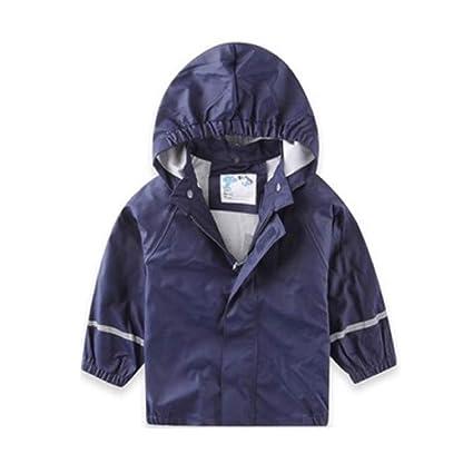 2f9b88916c9a9 mama stadt Chaqueta Impermeable para Niños Unisex Capa de Lluvia con  Capucha Abrigo Impermeable Otoño Invierno
