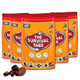 Emergency Food Supply - 10 days Survival Food for Emergency Situation - Gluten Free and Non-GMO 25 Years Shelf Life (120 tabs - Chocolate)