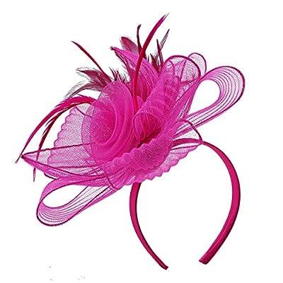 Fascinators Hats Women Tea Party Hats Kentucky Derby Headband Feather Cocktail Headwear
