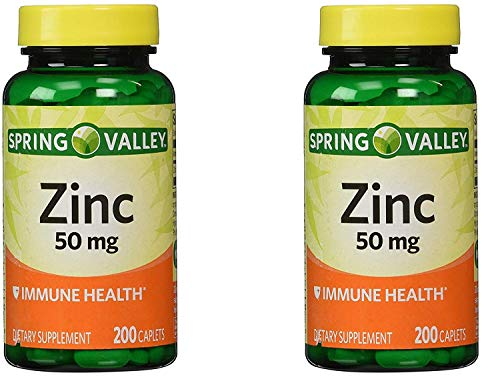 Spring Valley Zinc 50 mg, 200 Ct (2 Pack)