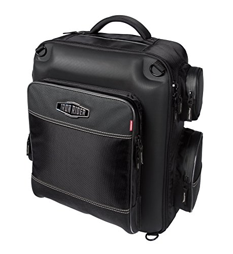 Dowco Iron Rider by 04880 Water Resistant Reflective Weekender Motorcycle Sissy Bar Bag: Black, 29 Liter Capacity (Iron Rider Cruiser)