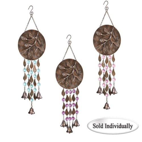 Grasslands Road Copper Leaf Moon Branch Wind Bells, 3 Styles, Blue Bead Only Review