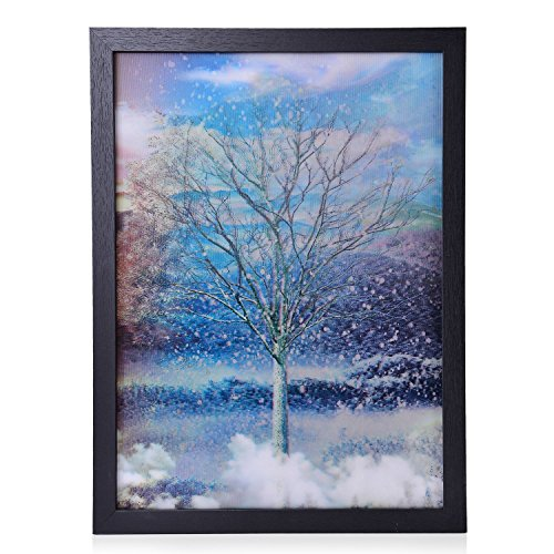 Shop LC 3D Beauty of the Four Seasons Tree Painting with Photo Frame 17x13''