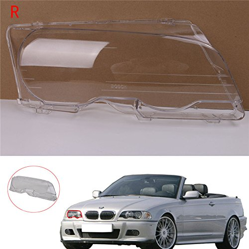 Jade Right Side Headlight Lens Plastic Shell Cover For BMW E46 2000-2003 M3 323ci 325ci 328ci 330ci ()