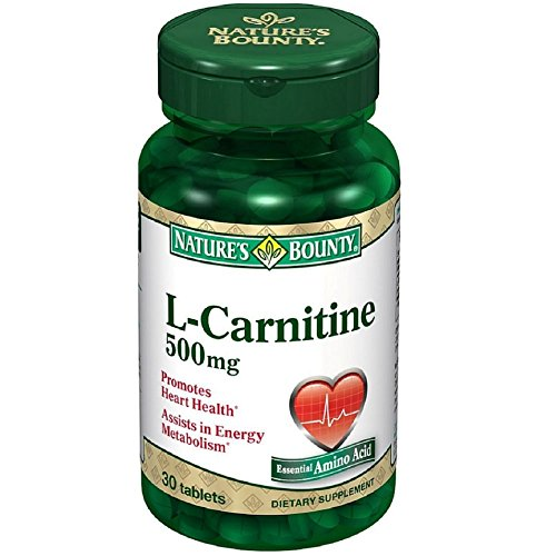 Nature's Bounty L-Carnitine 500 mg Tablets 30 Tablets (Pack of 5)