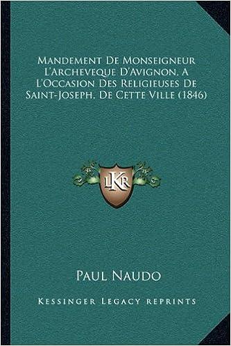 Amazon Fr Mandement De Monseigneur L Archeveque D Avignon