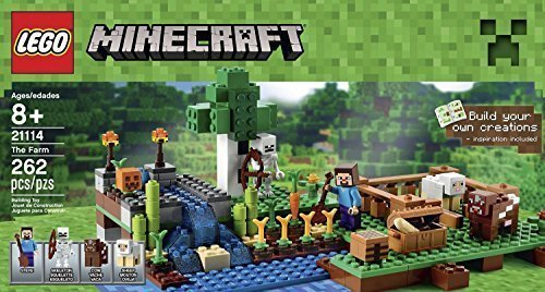 Lego Minecraft Toys Premium Educational Sets Creationary Game With Minifigures For 8 Year olds Childrens Farm Box (Lego Games Creationary)