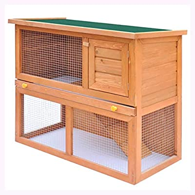 K&A Company Outdoor Rabbit Hutch Small Animal House Pet Cage 1 Door Wood
