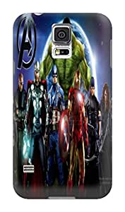 TPU phone accessory phone case/cover for Samsung Galaxy s5 with fashionable and Popular Marvel Comics Avengers lovely designed