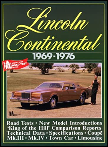 Buy Lincoln Cars Lincoln Continental 1969 76 Brooklands Books Road