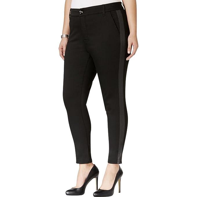 ed536258462 Melissa McCarthy Seven7 Womens Plus Polyester Dress Pants Black 14 ...