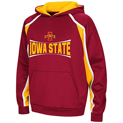 Youth Iowa State Cyclones Pull-Over Hoodie - L (Iowa State Sweatshirt Youth)