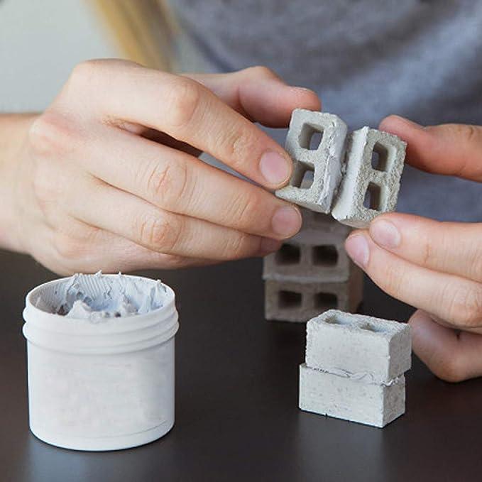 TianranRT - Mini ladrillo de cemento y mortero para construir tu propia pared, Gris: Amazon.es: Bricolaje y herramientas