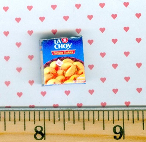 (Dollhouse & Miniature Dolls' Houses Miniature 1:12 and 1:24 Scale Size Fortune Cookie Box Welcome to Minimum)