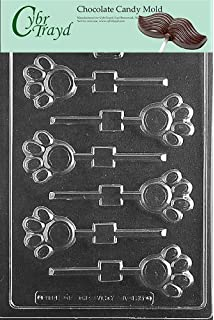 Cybrtrayd Life of the Party A135 Paw Print Lolly Chocolate Candy Mold in Sealed Protective Poly