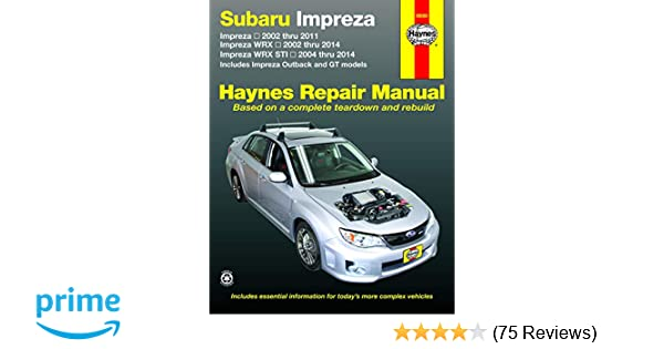 SUBARU IMPREZA SHOP MANUAL SERVICE REPAIR BOOK CHILTON HAYNES WRX STI