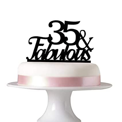 Image Unavailable Not Available For Color Succris 35 Fabulous Cake Topper 35th Birthday