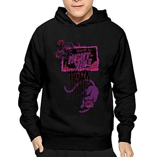 Men's Mchero Radio Welcome To Night Vale Cat Podcast Hoodies Sweatshirt Black