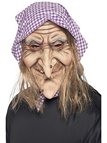 [Smiffys Men's Old Witch Mask] (Old Grandma Costumes)