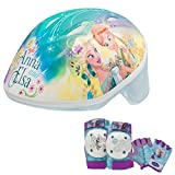 Disney Frozen Toddler Skate / Bike Helmet, Pads & Gloves - 7 Piece Set