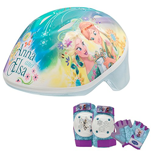 Disney Frozen Toddler Skate / Bike Helmet, Pads & Gloves - 7 Piece Set (Disney Frozen Helmet)