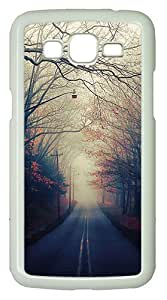 Samsung Galaxy Grand 2 7106 Case and Cover -Beautiful Autumn Road PC case Cover for Samsung Galaxy Grand 2 7106¨C White