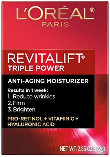 51KqPKO1JjL - Face Moisturizer By L'Oreal Paris Skin Care I Revitalift Triple Power Anti-Aging Face Cream With Pro Retinol, Hyaluronic Acid & Vitamin C I 2.55 Oz
