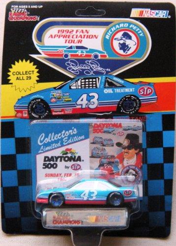 1992 NASCAR Racing Champions - Richard Petty #43 Pontiac 1/64 Diecast - Collector's Limited Edition DAYTONA 500 - Includes Collector's Card & Display Stand - Richard Petty Nascar
