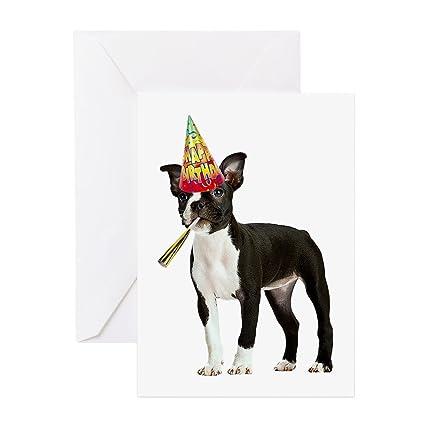 Amazon Cafepress Boston Terrier Birthday Greeting Card