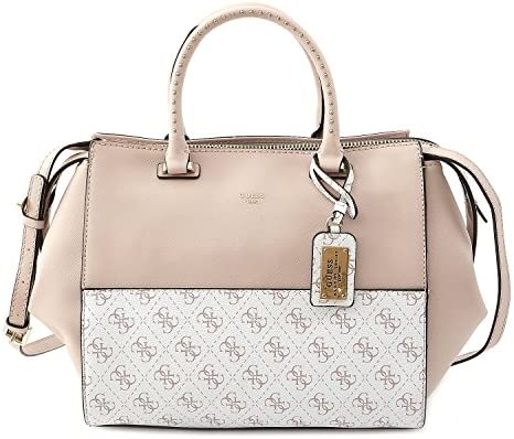 Guess TASCHE Hailey Satchel Nude Multi: