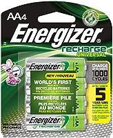 Energizer Recharge Universal, AA, 4 - Batería/Pila recargable (AA, 4, Universal, AA, Verde, Plata, Blister)
