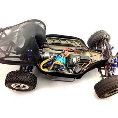 CrazyRacer Dustproof Rock Snow Dirt Resist Guard Chassis Cover-1SET Black for Traxxas Slash 4X4 (Non-LCG): Toys & Games