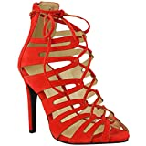 red platform high heels