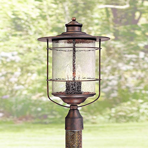 Casa Mirada Industrial Farmhouse Outdoor Post Light Bronze 19 3/4