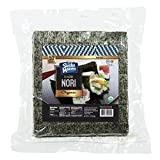 SUSHI MAVEN Nori Sheets- Pack of 50 Seaweed Sheets- Organic Nori Sheets for Asian Dishes- Premium High-end Nori Sheets for Sushi and Rice Balls- Healthy Organic Asian Food