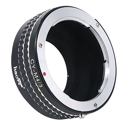 Haoge Manual Lens Mount Adapter for Contax/Yashica C/Y CY mount Lens to Olympus and Panasonic Micro Four Thirds MFT M4/3 M43 Mount Camera