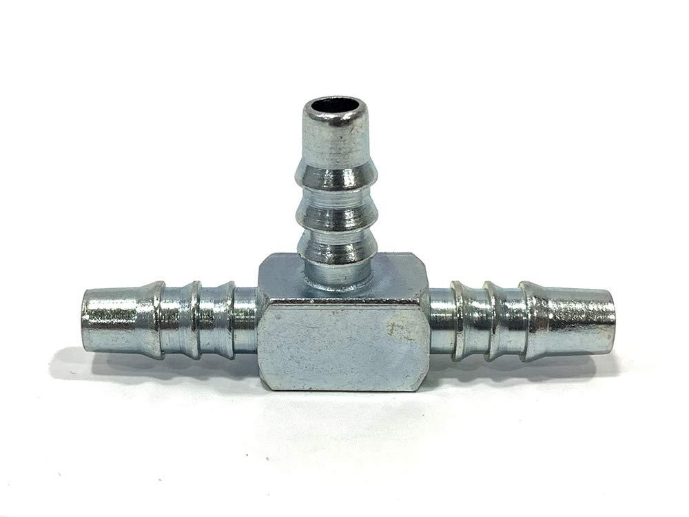 Conector met/álico tipoTE para tubo de gasolina de 6mm de interior CMParts
