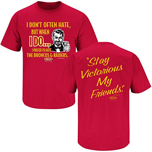 (Smack Apparel Kansas City Football Fans. Stay Victorious. I Don't Hate But When I Do, I Prefer to Hate. Red T-shirt (4XL))