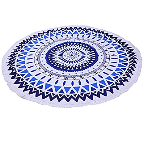Amazon.com : Luxury Round Beach Towels Bohemian Circle Serviette De Plage Toalla Playa Swimming Bath Super-absorbent Toallas Category-B : Everything Else