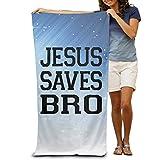 Wxf Jesus Saves Bro Christian Graphic Design Soft Lightweight Beach Towel Pool Towel 30x50