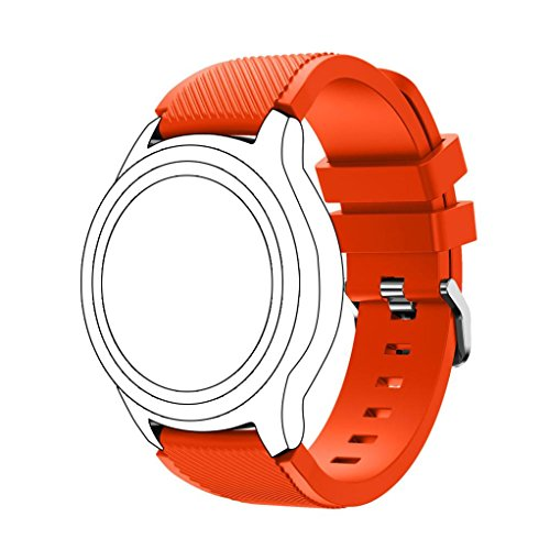 Price comparison product image GBSELL New Fashion Sports Silicone Bracelet Strap Band For Samsung Gear S3 Frontier (Orange)