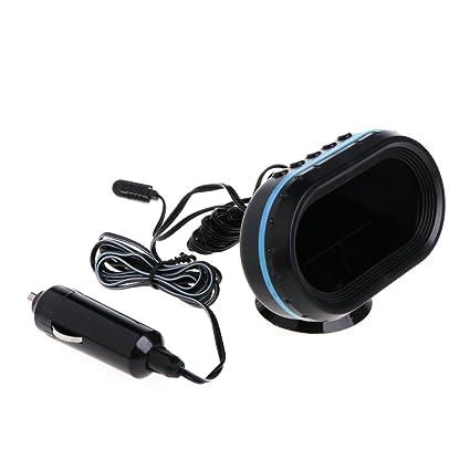 Exing Auto Termómetro Digital LCD Reloj Voltímetro Termómetro Temperatura Voltaje de Batería Monitor DC 12 V
